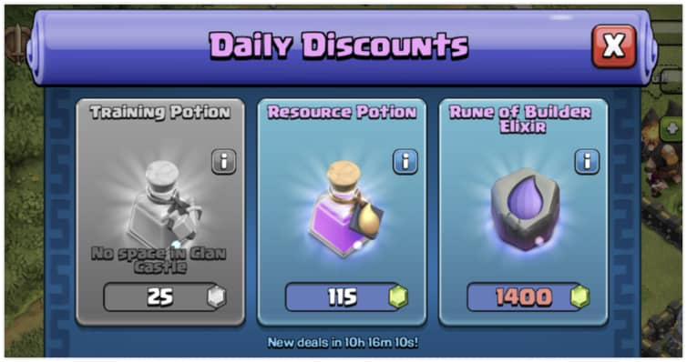 Clash of Clans Trader Deal Cycle, Prices & Guide August 2019
