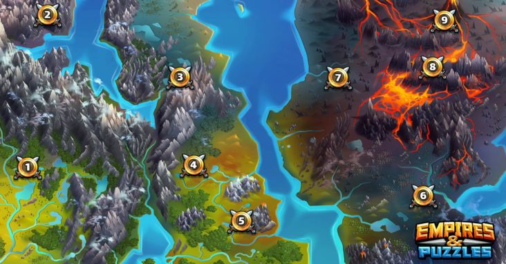 empires and puzzles best farming levels