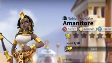 rise of kingdoms amanitore best talent build and skill order