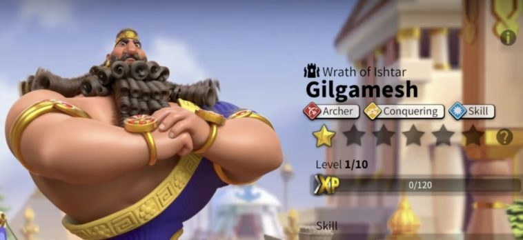 rise of kingdoms gilgamesh best talent build and skill order