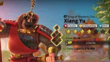 rise of kingdoms xiang yu best talent build and skill order